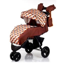 Коляска прогулянкова Voyage Air – Brown orange