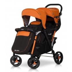 Коляска прогулянкова для двійні EASY GO FUSION DUO orange