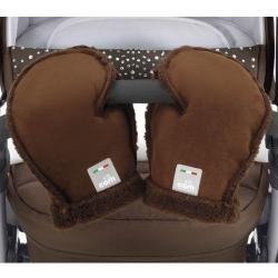 Рукавички-муфта д/коляски GUANTI, колір коричневий