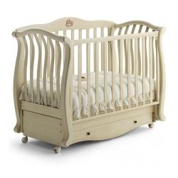Ліжечко дитяче 150х76 см ANDREA LUX GLITTER IVORY, колір слонова...