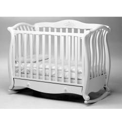 Ліжечко дитяче 125х65 см ANDREA LUX GLITTER WHITE
