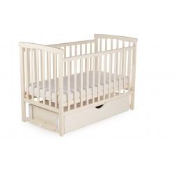 Ліжко дитяче DeSon Bimbi з опускною боковиною та шухлядою (MRIYA), ваніль