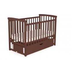 Ліжко дитяче DeSon Bimbi з опускною боковиною та шухлядою (MRIYA), горіх
