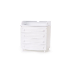 Комод пеленатор 900 білий ДСП+МДФ фільончастий