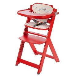 Стільчик для годування TIMBA червоний с подушкою...