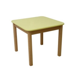 Столик дерево/плівка МДФ жовтий