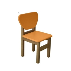 Стільчик дерево/плівка МДФ помаранчевий