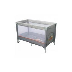 Манеж-ліжечко Baby Mix HR-8052-182 Горобчики grey