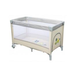 Манеж-ліжечко Baby Mix HR-8052-187 Горобчики beige