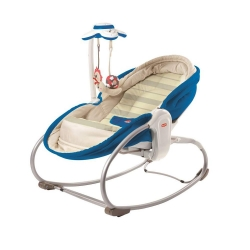 Крісло-ліжечко-гойдалка 3в1 «Мамина любов» синє