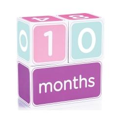 Набір кубиків з наклейками «Перша річниця» (рожевий)