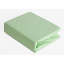 Простирадло Twins на резинці для круглого ліжка 120/60 green