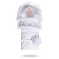 Конверт з вуаллю білі пелюстки Дебют