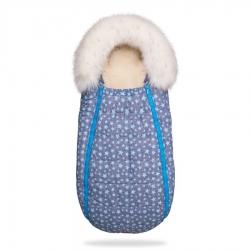 Конверт Baby XS Блакитні Зірки з опушкою