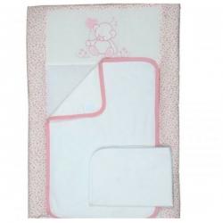 Матрац сповивальний (50х70) «Sweet Bear pink»