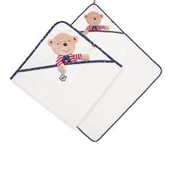 Полотенце с капюшоном мишка