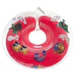 Круг для купання дітей Дельфін червоний