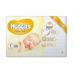 Підгузники дитячі «Huggies Elite Soft» 1 (до 5 кг) 26 шт.