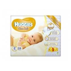Підгузники дитячі «Huggies Elite Soft» 2 (4-7 кг), 24 шт.