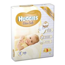 Підгузники дитячі «Huggies Elite Soft» 2 (4-7 кг), 66 шт.