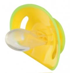 Пустушка силіконова симетрична жовта 6-18 м