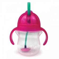 Пляшка непроливна «Tip & Sip», 207 мл. (рожева)