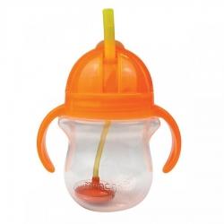 Пляшка непроливна «Tip & Sip», 207 мл. (помаранчева)