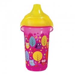 Пляшка непроливна «Deco Sippy», 266 мл. (рожева)