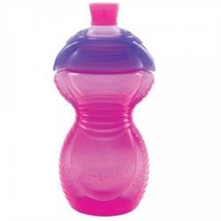 Пляшка непроливна «Chew Proof», 296 мл. (рожева)