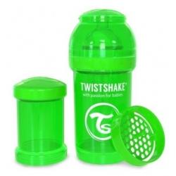 Пляшечка антиколікова 180 мл, зелена