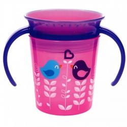 Чашка непроливна «Miracle 360 Deco», 177 мл. (рожева з...