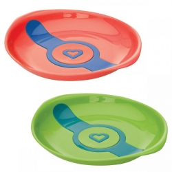 Набір: тарілки «White Hot», 2 шт. (зелена та помаранчева)
