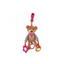 Підвіска плюшева з вібро Ведмедик рожевий STK-16300 P