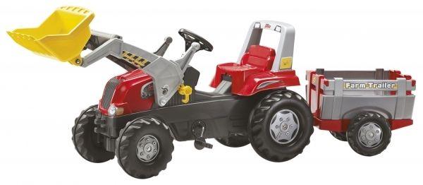 Трактор з причіпом та ковшем Rolly Toys rollyJunior RT червоно-сірий