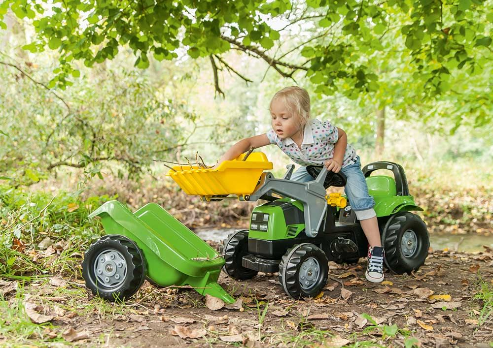 Екскаватор Rolly Toys rollyJunior John Deere зелено-жовтий
