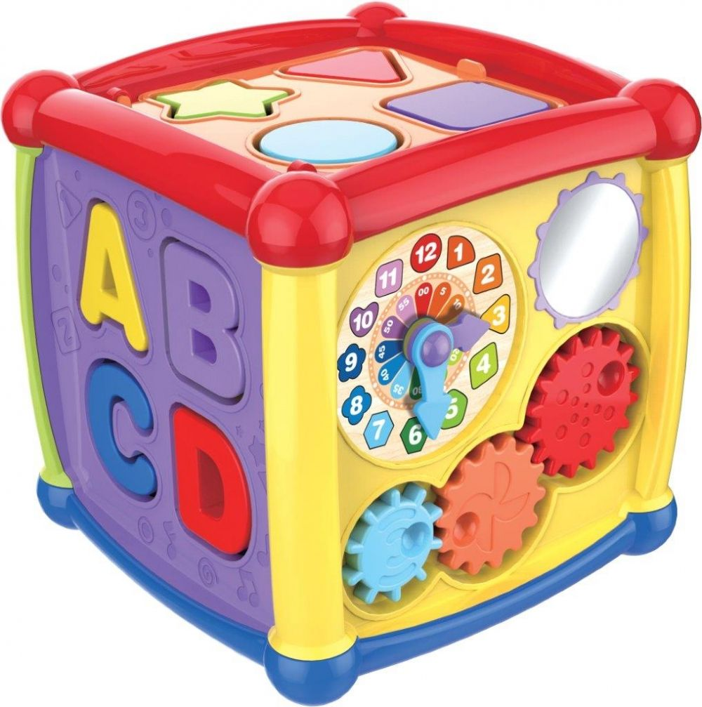 Іграшка розвиваюча - багатофункціональний кубик 15х15 HS-0520